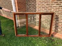 Double Glazed three paned window in timber frame.