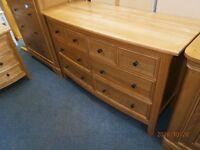 Oak 6 Drawer Sideboard