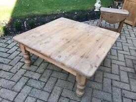 Attractive Waxed Old English Pine Coffee Table