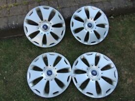 "Paul Jones 1 min 16"" original ford wheel trims x 4 - focus , mondeo , transit connect , cmax , smax"