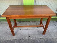 Mahogany science bench