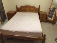 Bedroom furniture set. Double Bed. Bedside drawer. Wardrobe. Mirror