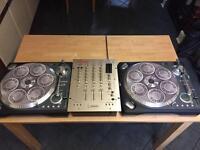 Numark ttx decks with vestax mixer