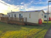CHEAP STATIC CARAVAN FOR SALE IN NORTH AYRSHIRE, SCOTLAND NEAR GLASGOW , AYR , IRVINE , KILMARNOCK