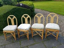 Bamboo conservatory chairs set of 4
