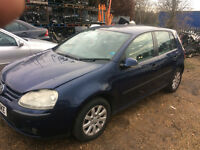 vw golf mk5 1.9 tdi 5 door auto dsg breaking for spares and repairs call parts thanks