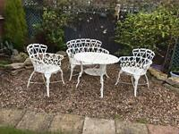 Beautiful vintage wrought iron patio furniture shabby chic