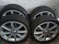 4 x 17inch alloy wheels for sale,205/40/17 kumho tyres,will fit most ford focus's and fiesta's.VGC