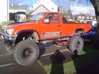 Fully kitted Toyota Hilux Monster truck with V8 Motor.