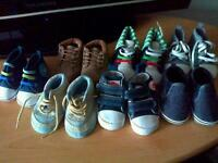 7 pairs of babys crib shoes