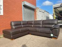Beautiful leather dfs corner sofa delivery 🚚 sofa suite couch furniture