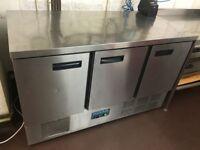 Polar Stainless Steel Triple Door Prep Fridge - Ref 9390