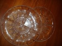 Glass party dishes