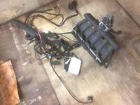 BMW M52b25 3 5 series e36 inlet manifold throttle body injectors fuel rail wiring ECU