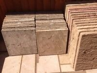 MANY NATURAL DERBYSHIRE MEDIUM SIZE 450 x 450 PAVING SLABS - PRICED FOR SINGLE SLAB