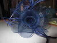 LADIES NAVY BLUE FASCINATOR – BRAND NEW - £5