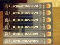 Blank, new Memorex E180 cassettes