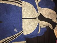 Adidas (7-8) tracksuit bottoms and hoody