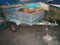 Trelgo tipping trailer. 5ft x 3.5ft / 500kg