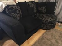 Corner sofa and free arm chair