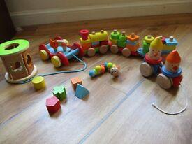 wooden toy bundle for toddler