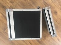 "FlightCase 4u 19"" Rack case with screws and clips"