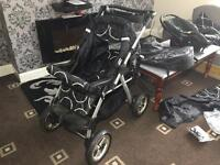 Brand new pushchair with many accessories