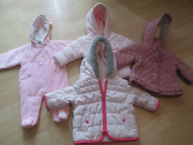 BABY GIRLS JACKETS AND SNOWSUITS