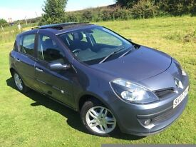 *NEW SHAPE* 2007 RENAULT CLIO DYNAMIQUE 1.4L 16V - PANORAMIC SUNROOF - FSH - 1 YEARS MOT - 2 OWNERS