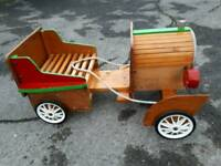 CHILDS HAND BUILT WOODEN CAR