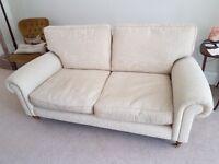Sofa (beige fabric) Laura Ashley, 2.5 seater. Good condtion