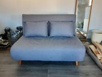 Grey 2 seater sofa bed