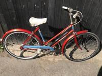 Vintage BSA Bermuda Ladies Town Bike. Serviced, Free Lock, Lights, Delivery
