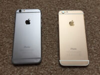 Job lot of 2 faulty iphone 6 blacnk LCD
