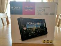 "Sony XAV-63 Double Din 6.1"" touchscreen multimedia station"