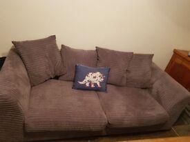 2 and 3 seater Grey sofa set