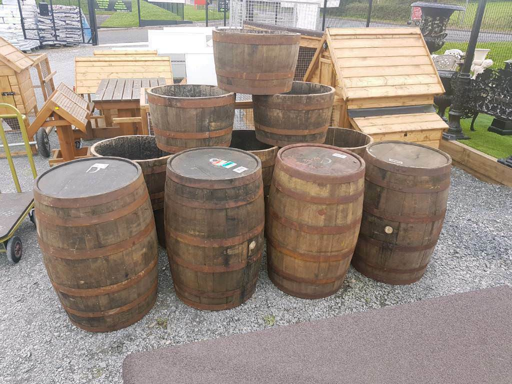 Oak Wooden Whiskey Barrels Planters Or Furniture Suit Pubs Clubs