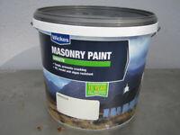 Masonry Paint Wickes Exterior Smooth Magnolia 5L - Unused