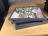 x4 Ikea Ribba grey frames
