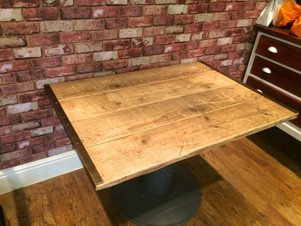 RUSTIC TABLE - CAN DELIVER - RECLAIMED MATERIALS - TOP COMES OFF FOR TRANSPORTING