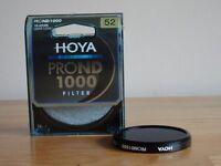Neutral Density Camera Filter - 52mm Hoya ND1000 10-stop