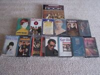 14 AUDIO CASSETTE TAPES - WITH CARRYING CASE. VARIOUS ARTISTS