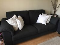ALL OFFERS CONSIDERED-Very comfy lounge suite - dark blue. Large 3 seater and large 2 seater.