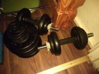 DKN Cast Iron Standard 40 KGs Weight Plats & Dumbbell Bars