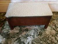 oak stool box plus tea box