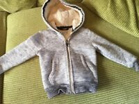 Next boys fur lined hooded jacket