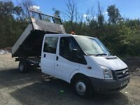 Ford transit crew cab tipper pick up 2009