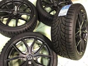 "18"" Liquid Metal Wheels 5x112 and Winter Tires 225/40R18 (Volkswagen Cars) Calgary Alberta Preview"