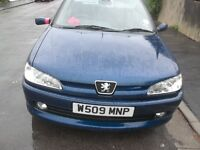 blue 2000 peugeot diesel in good driving condition