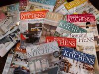 Job lot/bundle of Beautiful Kitchens magazine